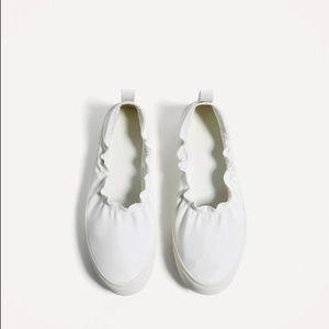 Zara flat white shoes size 9 USA
